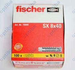 Kołek rozporowy SX 8x40mm 070008 100szt.
