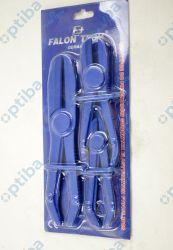 Zestaw 3 szczypiec do zaciskania przewodów gumowych FT3155 roz. szypiec 155/185/255mm