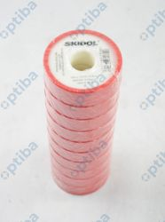 Taśma teflonowa 19x0,2mm 15m 0,50g/cm3 czerwona