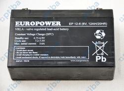 Akumulator EP 12-6 6V 12AH/20HR