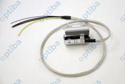 Grzałka opaskowa fi 45x80 230V 600W przewód 1m z termoparą J, uziemieniem, oplotem, opaską mikanitowa, przyłącze proste