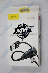 Kabel dwustronny MVP Elbow kątowy z bocznym wtykiem micro USB 2m 1.5A czarny CAMMVP-B01