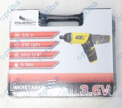 Wkrętarka akumulatorowa PM-WA-3.6V-LI z bitami