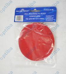 Filc polerski z rzepem 125x8mm czerwony