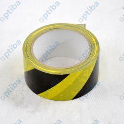 Taśma ostrzegawcza 50mm 33m PCV żółto-czarna