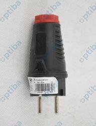 Wtyczka gumowa UNI-SCHUKO 16A 2P+Z 250V IP54 0521-sr