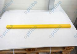 Płaskownik z poliamidu PA6G 50x35x1000mm żółty ze smarem