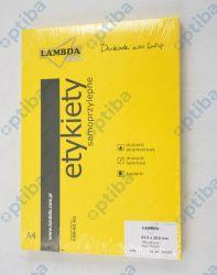 Etykieta 63,5x29,6mm żółta 306927