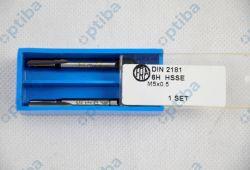 Gwintownik ręczny M5x0.5 DIN2181/2 6H HSSE 2szt.