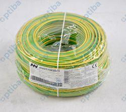 Przewód instalacyjny H07V-K (LgY) 4 100m żółto-zielony T0155 LGY 1 X 4 ŻO