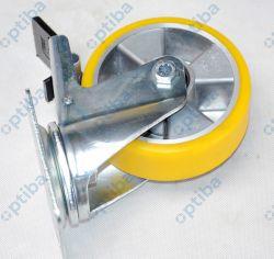 Koło aluminowo-poliuretanowe skrętne z hamulcem d=125 A25PWH