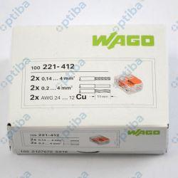 Szybkozłączka instalacyjna 2x0.2-4mm2 221-412 100 szt. WAGO