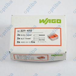 Szybkozłączka instalacyjna 3x0.2-4mm2 221-413 50 szt. WAGO