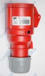 Złącze zasilajace AC 3-fazowe żeńskie 16A 400VAC 214-6 PCE