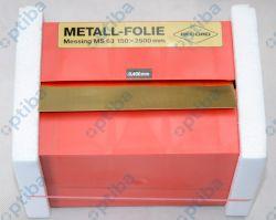 Folia metalowa MS 63 150x2500x0.400mm EDE 8244960400