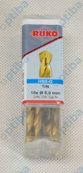 Wiertło HSS-TiN 5,0mm DIN338 250050T