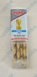 Wiertło HSS-TiN 6,0mm DIN338 250060T