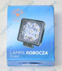 Lampa robocza kwadratowa 9 LED 12-24V 9x3W