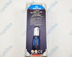 Latarka 9TA27 3W COB + 5LED z kablem USB i ładowarką samochodową oraz fukcją POWER BANK