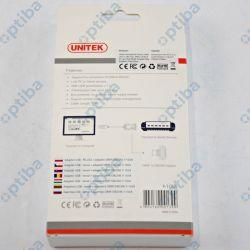 Adapter USB 1.4m złącza DB9 port męski RS-232 Y-105A UNITEK