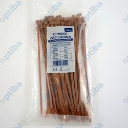 Zestaw opasek zaciskowych nylonowych 3.6x200mm brązowy FXHT 4/200 100szt.