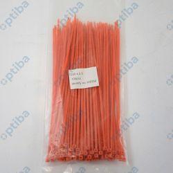 Zestaw opasek zaciskowych nylonowych 2.5x200mm ceglasty FXHT 3/200 100szt.