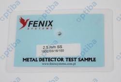 Tester do sprawdzenia metaldetektorów 2.5 SS 95x65mm
