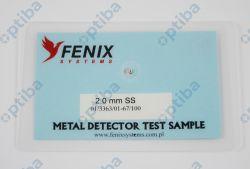 Tester do sprawdzenia metaldetektorów 2.0 SS 95x65mm