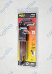 Zestaw 9 kluczy imbusowych 69499 z kulistą końcówką 1,5-10mm