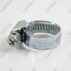 Opaska zaciskowa ślimakowa 12-20/9mm ze stali W1