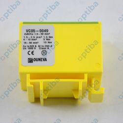 Złączka szynowa VC05-0049 1,5-50mm2 1 tor 4 zaciski żółto-zielona OUNEVA