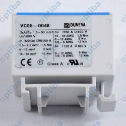 Złączka szynowa VC05-0048 1,5-50mm2 1 tor 4 zaciski niebieska OUNEVA