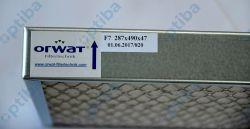 Filtr kasetowy F7 287x490x47mm rama metal siatka z dwóch stron wkład materiał syntetyczny