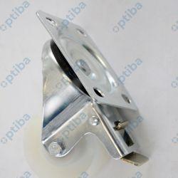 Koło tworzywowe skrętne d=80mm z hamulcem 6BH