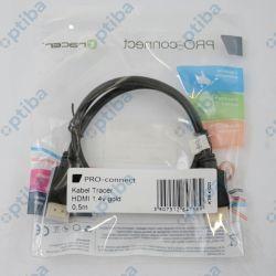 Przewód HDMI kl.1,4 0,5m