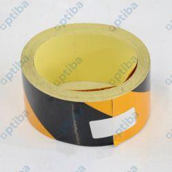 Taśma PCV odblaskowa samoprzylepna czarno-żółta szer.50mm