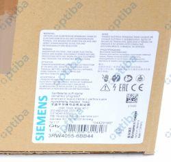 Softstart 3RW4055-6BB44 S6 134 A 75KW/400V temp. otoczenia 40st.  200-460 VAC 230VAC przył. śrub.