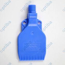 """Dysza wachlarzowa wielokanałowa FACHFBLP 47mm gw. zew. G 1/4"""", materiał POM (niebieski), zużycie powietrza przy ciśn. 4 bar 416l/min"""