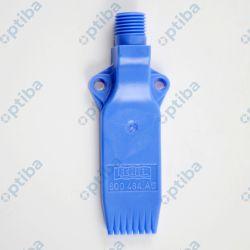"""Dysza wachlarzowa wielokanałowa FACHFBLP25 25mm, gw. zew. G 1/4"""", materiał POM (niebieski), zużycie powietrza przy ciśn. 4 bar 180l/min"""