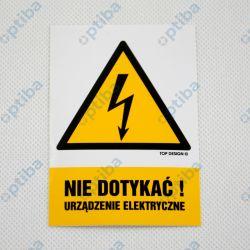 Znak BHP Nie dotykać! Urządzenie elektryczne HA001 AH FN 74x105mm